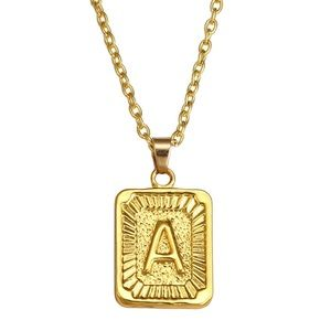 MANY LETTER AVAIL! rare letter name gold necklace♡